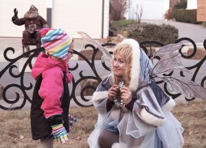 The Blue Fairy delighted young and old alike.