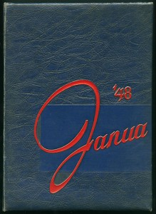 Janua 1948 Academy of the Sacred Hearts, published by the Senior Class, Sacred Hearts Academy, Fall River, Massachusetts. This high-school year book was offered for sale by an on-line auction house and purchased for the Charlton Library of Fall River History at the FRHS with funds from the Library/Archive Acquisition Fund. The FRHS maintains an extensive collection of various Fall River high school yearbooks from public and private schools, the earliest dating to 1912.